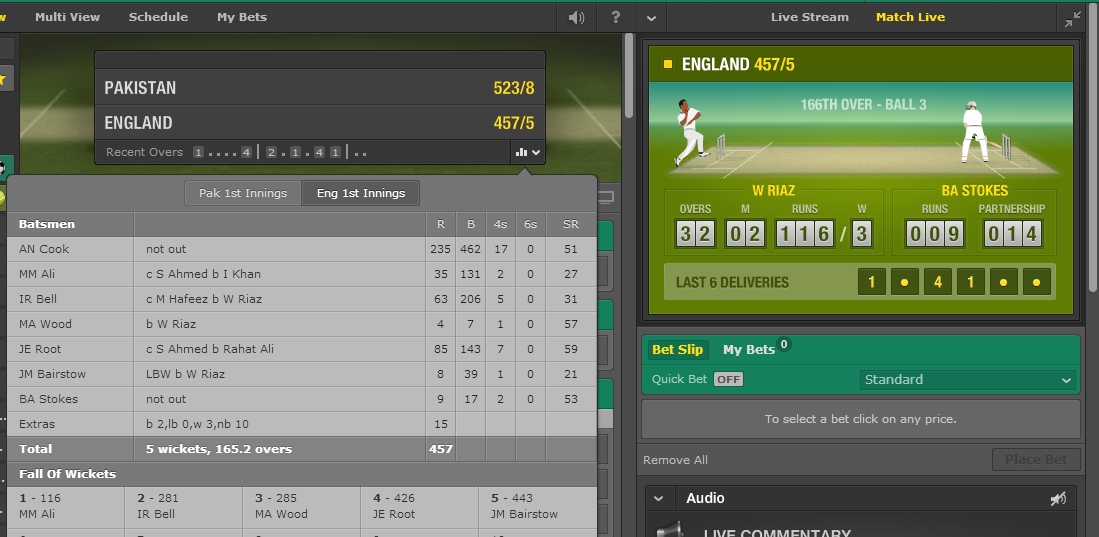 bet365 live commentary