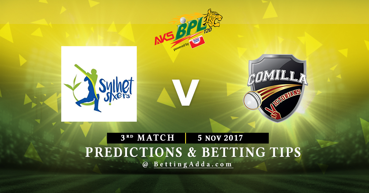Sylhet Sixers vs Comilla Victorians 3rd Match Prediction, Betting Tips & Preview