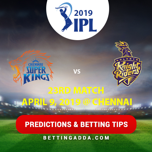 Chennai Super Kings vs Kolkata Knight Riders 23rd Match Prediction, Betting Tips & Preview
