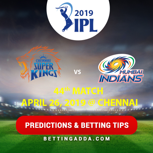 Chennai Super Kings vs Mumbai Indians 44th Match Prediction, Betting Tips & Preview