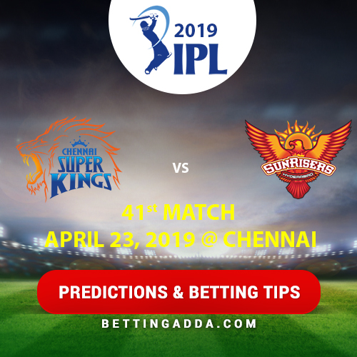 Chennai Super Kings vs Sunrisers Hyderabad 41st Match Prediction, Betting Tips & Preview