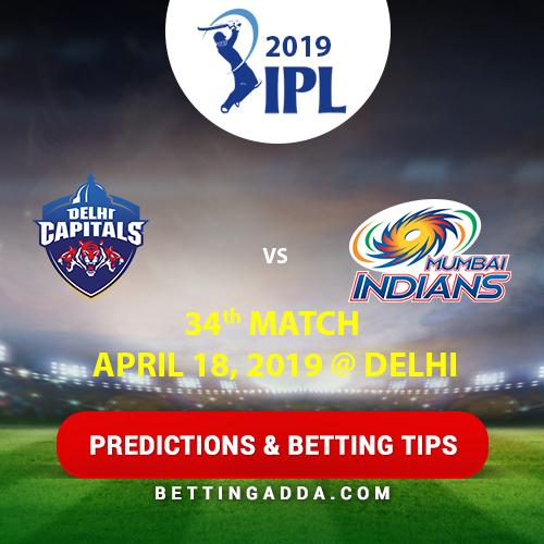 Delhi Capitals vs Mumbai Indians 34th Match Prediction, Betting Tips & Preview