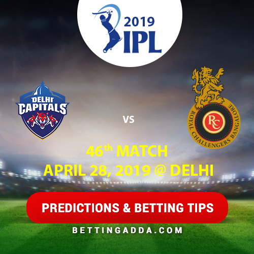 Delhi Capitals vs Royal Challengers Bangalore 46th Match Prediction, Betting Tips & Preview
