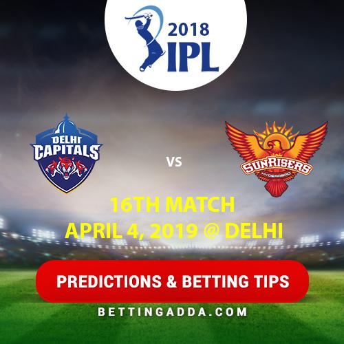 Delhi Capitals vs Sunrisers Hyderabad 16th Match Prediction, Betting Tips & Preview