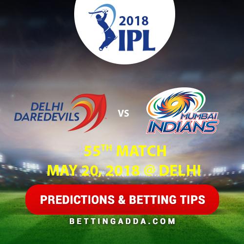 Delhi Daredevils vs Mumbai Indians 55th Match Prediction, Betting Tips & Preview