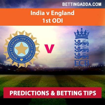 India vs England 1st ODI Prediction, Betting Tips & Preview