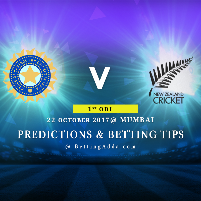 India vs New Zealand 1st ODI Prediction, Betting Tips & Preview