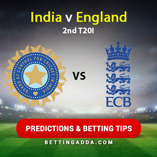 India vs England 2nd T20I Prediction, Betting Tips & Preview