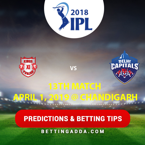 Kings XI Punjab vs Delhi Capitals 13th Match Prediction, Betting Tips & Preview
