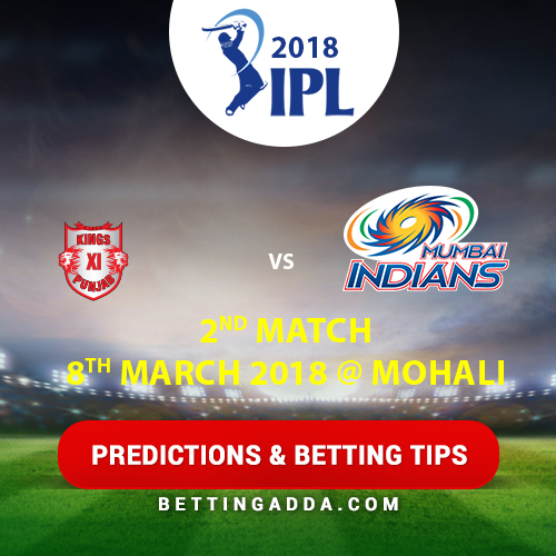Kings XI Punjab vs Delhi Daredevils 2nd Match Prediction, Betting Tips & Preview