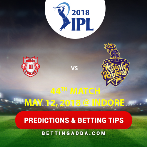 Kings XI Punjab vs Kolkata Knight Riders 44th Match Prediction, Betting Tips & Preview