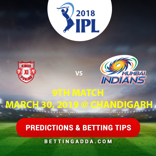 Kings XI Punjab vs Mumbai Indians 9th Match Prediction, Betting Tips & Preview