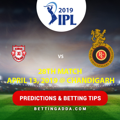 Kings XI Punjab vs Royal Challengers Bangalore 28th Match Prediction, Betting Tips & Preview