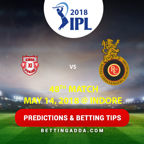 Kings XI Punjab vs Royal Challengers Bangalore 48th Match Prediction, Betting Tips & Preview