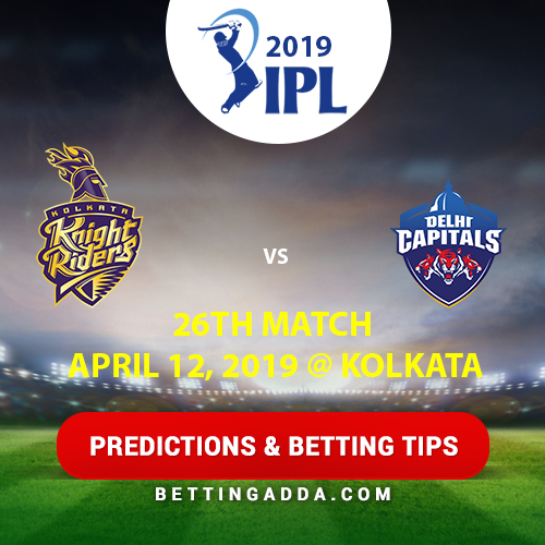 Kolkata Knight Riders vs Delhi Capitals 26th Match Prediction, Betting Tips & Preview