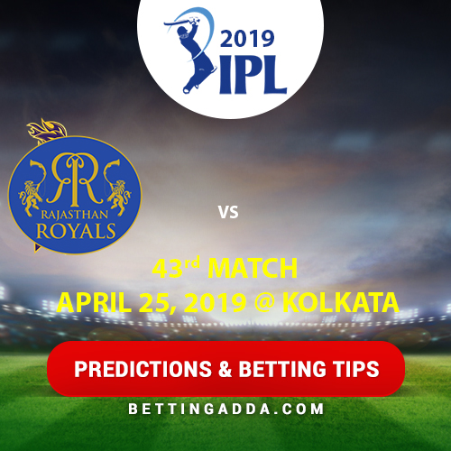 Kolkata Knight Riders vs Rajasthan Royals 43rd Match Prediction, Betting Tips & Preview
