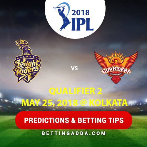 Kolkata Knight Riders vs Sunrisers Hyderabad Qualifier 2 Prediction, Betting Tips & Preview