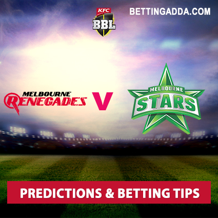 Melbourne Renegades vs Melbourne Stars 19th Match Prediction, Betting Tips & Preview