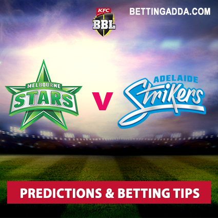 Melbourne Stars vs Adelaide Strikers 22nd Match Prediction, Betting Tips & Preview
