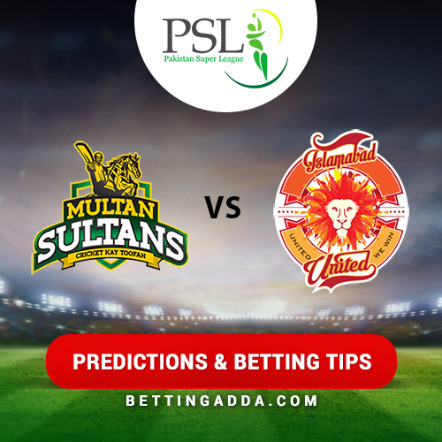 Multan Sultans vs Islamabad United 25th Match Prediction, Betting Tips & Preview