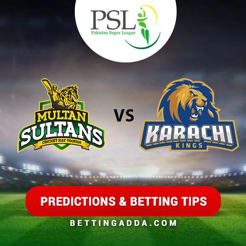 Multan Sultans vs Karachi Kings 22nd Match Prediction, Betting Tips & Preview