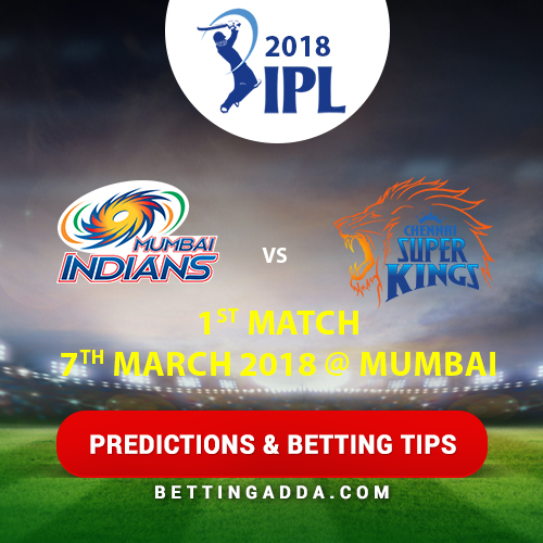 Mumbai Indians vs CSK 1st Match Prediction, Betting Tips & Preview