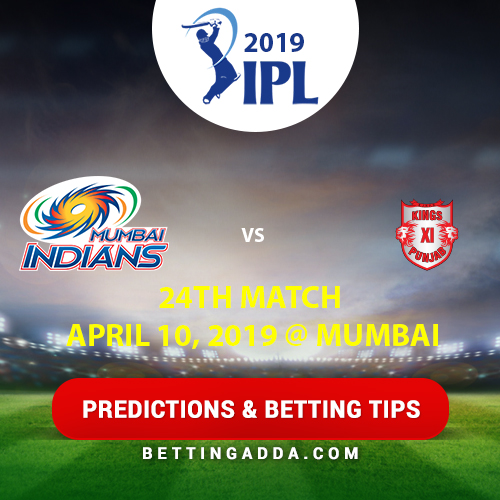 Mumbai Indians vs Kings XI Punjab 24th Match Prediction, Betting Tips & Preview