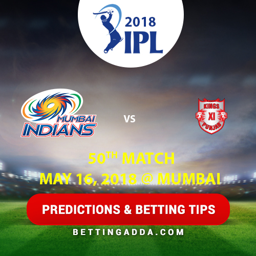 Mumbai Indians vs Kings XI Punjab 50th Match Prediction, Betting Tips & Preview