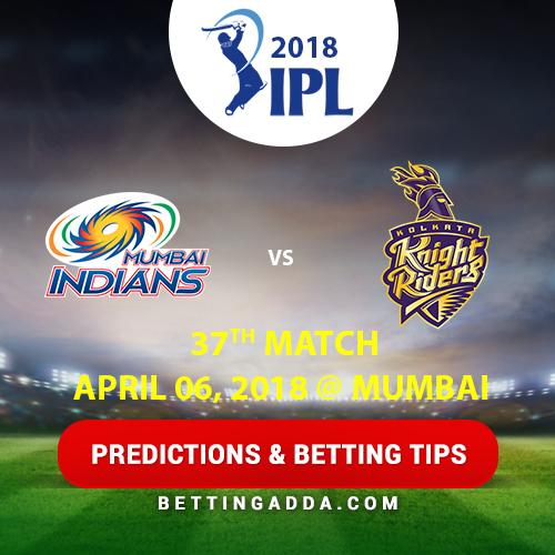 Mumbai Indians vs Kolkata Knight Riders 37th Match Prediction, Betting Tips & Preview