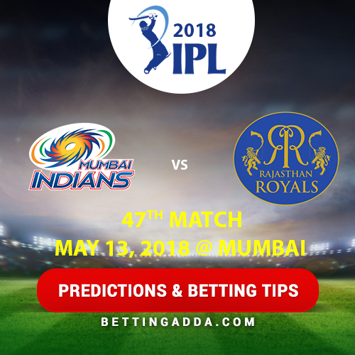 Mumbai Indians vs Rajasthan Royals 47th Match Prediction, Betting Tips & Preview