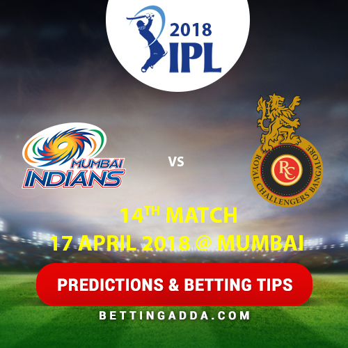 Mumbai Indians vs Royal Challengers Bangalore 14th Match Prediction, Betting Tips & Preview