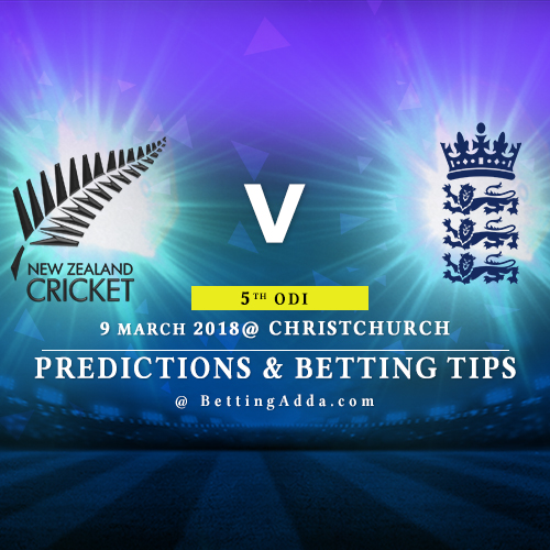 New Zealand vs England 5th ODI Match Prediction, Betting Tips & Preview