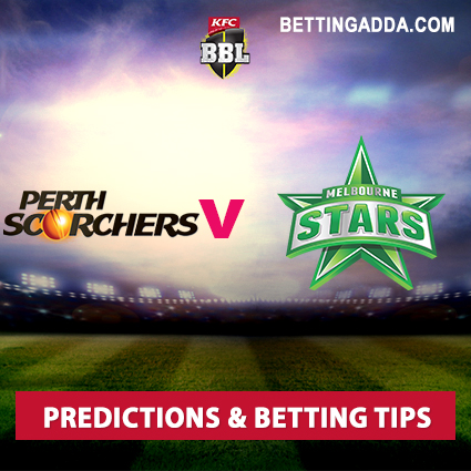 Perth Scorchers vs Melbourne Stars 26th Match Prediction, Betting Tips & Preview
