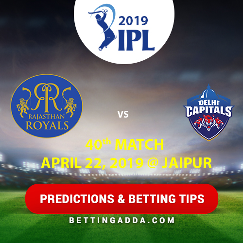 Rajasthan Royals vs Delhi Capitals 40th Match Prediction, Betting Tips & Preview