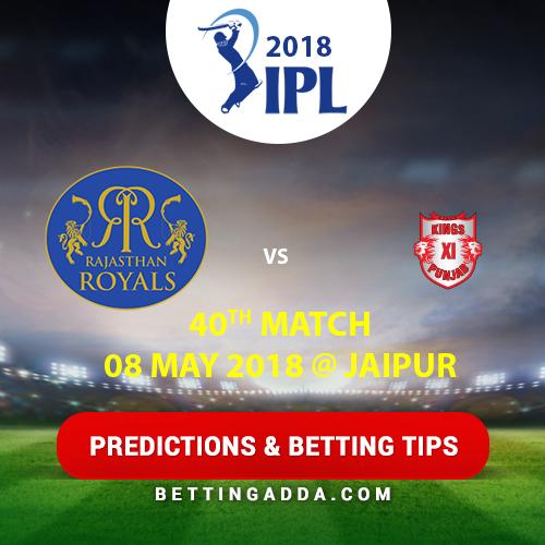 Rajasthan Royals vs Kings XI Punjab 40th Match Prediction, Betting Tips & Preview