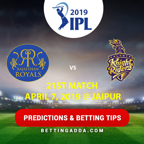 Rajasthan Royals vs Kolkata Knight Riders 21st Match Prediction, Betting Tips & Preview
