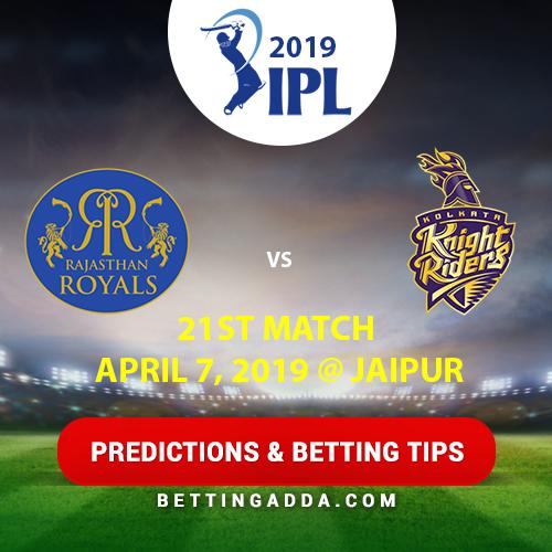 Rajasthan Royals vs Kolkata Knight Riders 21st Match Prediction, Betting Tips & Preview