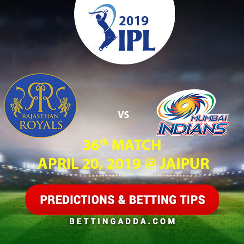 Rajasthan Royals vs Mumbai Indians 36th Match Prediction, Betting Tips & Preview