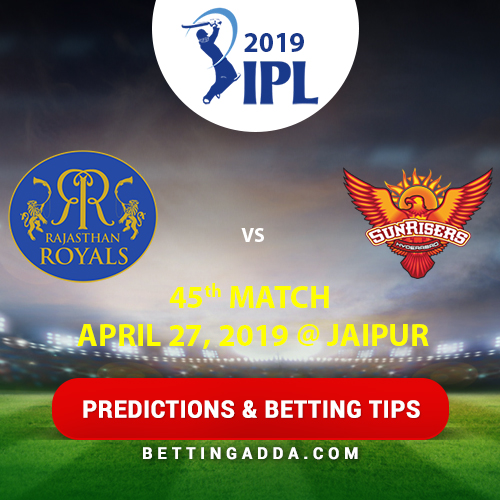 Rajasthan Royals vs Sunrisers Hyderabad 45th Match Prediction, Betting Tips & Preview