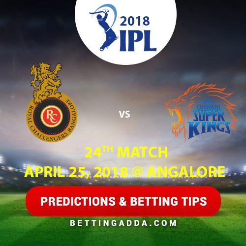 Royal Challengers Bangalore vs Chennai Super Kings 24th Match Prediction, Betting Tips & Preview