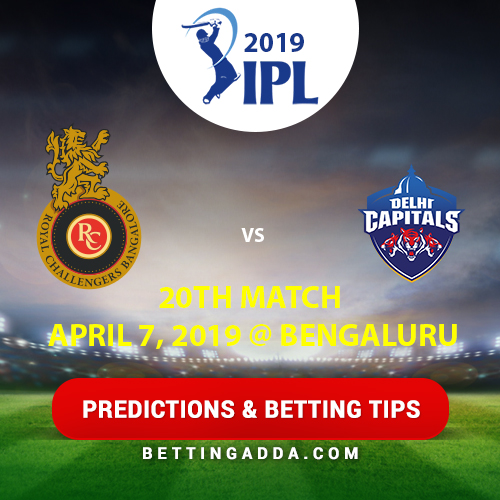 Royal Challengers Bangalore vs Delhi Capitals 20th Match Prediction, Betting Tips & Preview