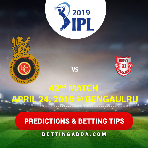 Royal Challengers Bangalore vs Kings XI Punjab 42nd Match Prediction, Betting Tips & Preview