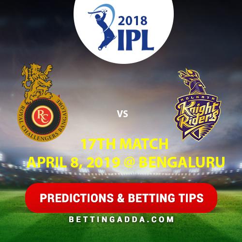 Royal Challengers Bangalore vs Kolkata Knight Riders 17th Match Prediction, Betting Tips & Preview