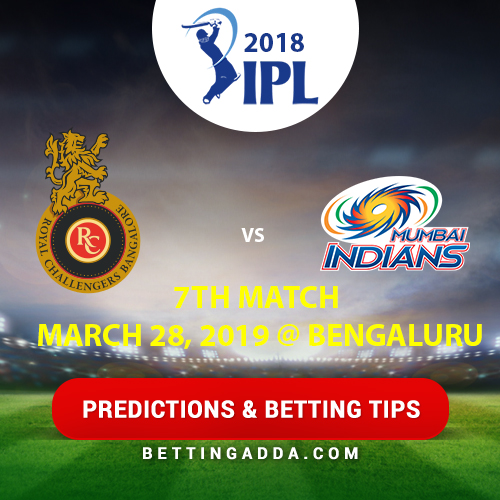 Royal Challengers Bangalore vs Mumbai Indians 7th Match Prediction, Betting Tips & Preview
