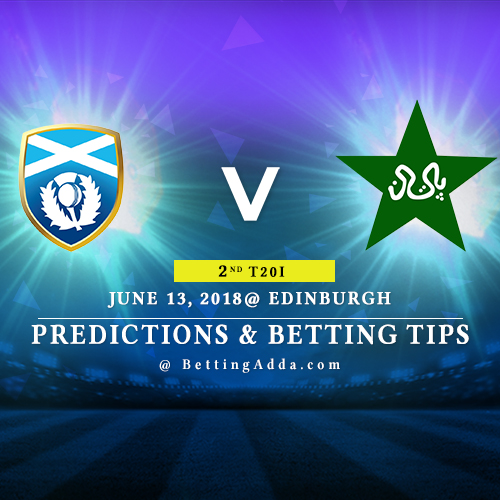Scotland vs Pakistan 2nd T20I Match Prediction, Betting Tips & Preview
