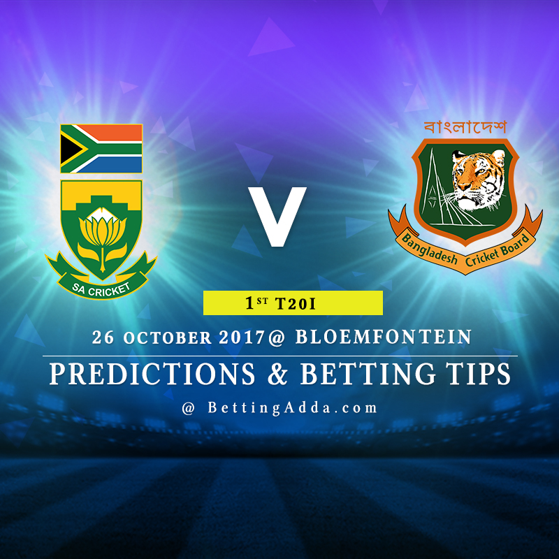 South Africa vs Bangladesh 1st T20I Prediction, Betting Tips & Preview