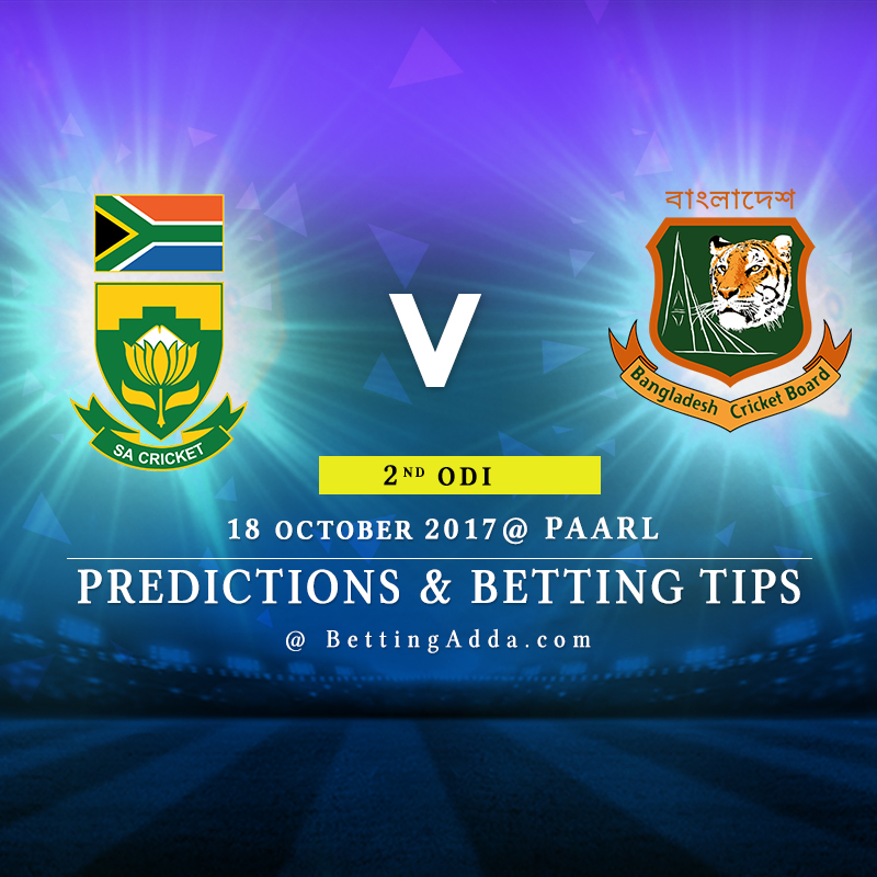 South Africa vs Bangladesh 2nd ODI Prediction, Betting Tips & Preview