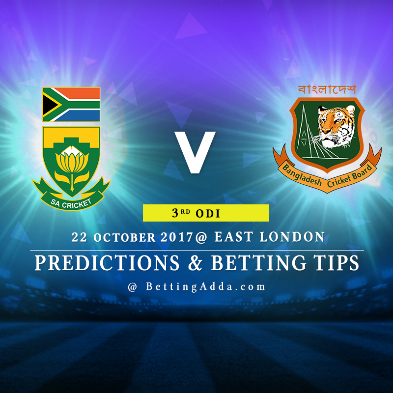 South Africa vs Bangladesh 3rd ODI Prediction, Betting Tips & Preview