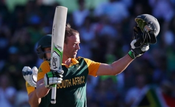 AB de Villiers in his whirlwind 150 against the West Indies