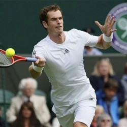 Andy Murray plays against the toughest opponent so far